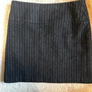 Banana Republic Gray Black Striped Flannel  Skirt